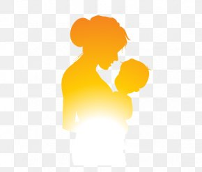 Mother And Child Silhouette Figures - Mother Silhouette Child PNG
