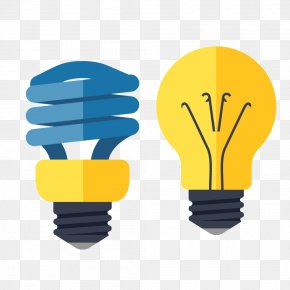 Yellow Light Bulb Energy Saving Lamps - Light Electricity Energy Conservation Electric Power PNG