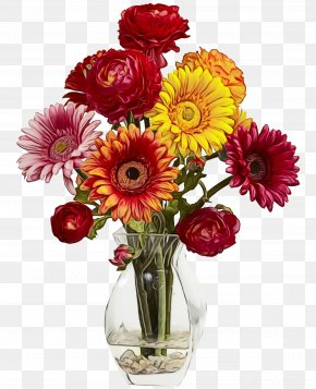 Transvaal Daisy Cut Flowers Floral Design Vase PNG