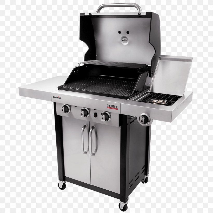 Barbecue Grilling Char-Broil Signature 4 Burner Gas Grill Char-broil SmartChef TRU-Infrared 463346017, PNG, 1000x1000px, Barbecue, Charbroil, Charbroil 3 Burner Gas Grill, Cooking, Food Download Free