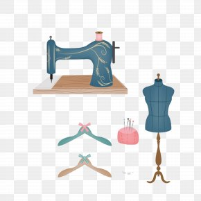 Tailor Supplies Material Model Aircraft Hanger - Sewing Needle Drawing Sewing Machine Clip Art PNG