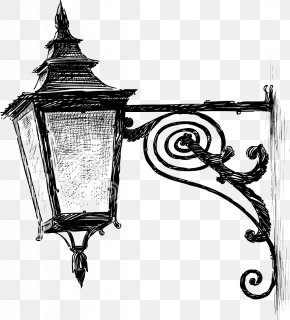 Street Light - Lantern Street Light Drawing Oil Lamp PNG