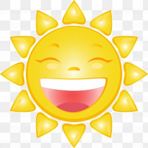 Smiling Sun Cartoon Clip Art Image - Smiley Cartoon Clip Art PNG