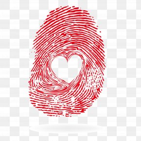Fingerprint - Heart Visual Design Elements And Principles PNG