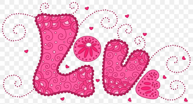 Love Heart Pattern, PNG, 1196x647px, Love, Cdr, Heart, Magenta, Pattern Download Free