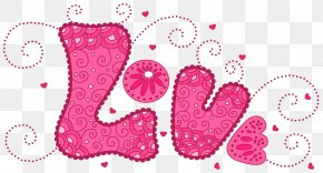 Pink Love Clipart - Love Heart Pattern PNG