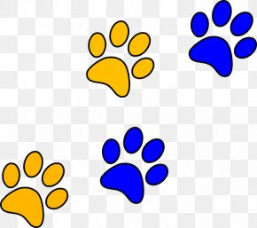 Panther Paw Cliparts - Bulldog Paw Blue Clip Art PNG