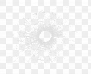 Bullet Hole - Black And White Circle Pattern PNG