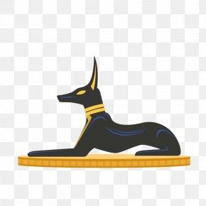 Egypt Black Dog - Egyptian Pyramids Ancient Egypt Pharaoh Illustration PNG