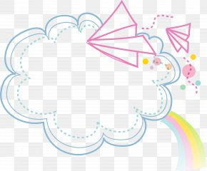 Clouds Border - Cartoon PNG