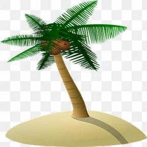 Coconut Tree Island - Arecaceae Coconut Tree PNG
