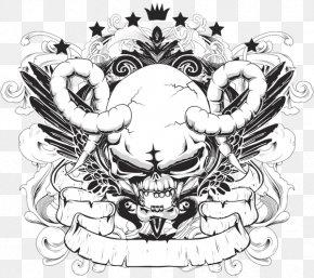 T-shirt - T-shirt Skull Graphic Design PNG