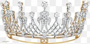 Crown - Tiara Diamond Jewellery Christie's La Peregrina Pearl PNG