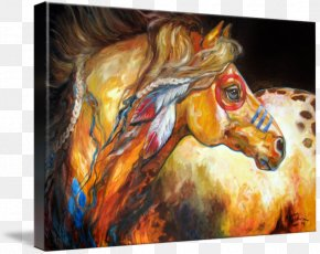 War Horse - Painting Horse United States American Indian Wars Art PNG