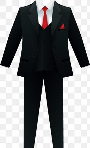 Vector Painted Suit - Tuxedo Suit Clip Art PNG