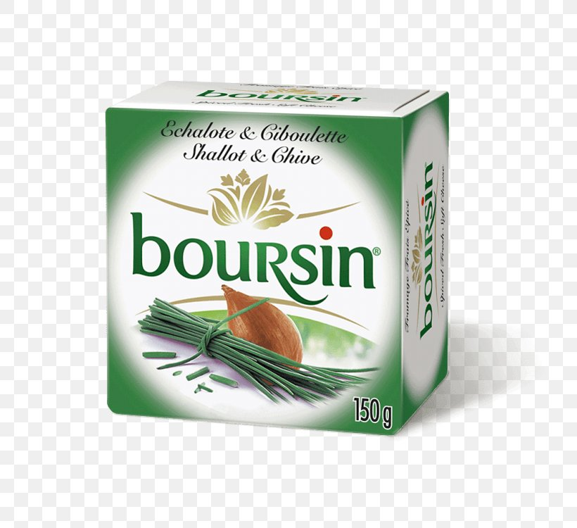 Boursin Cheese Shallot Chives, PNG