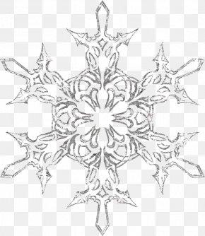 Silver Snowflake - Snowflake PNG