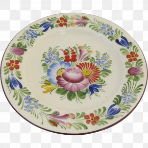 Hand-painted Flower Material - Czechoslovakia Plate Porcelain Vase Pottery PNG
