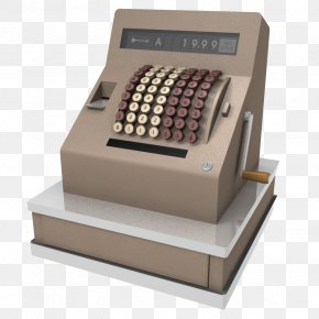Light Brown Manual Print Cash Register - Cash Register NCR Corporation 3D Modeling TurboSquid PNG