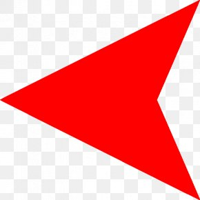 Left Arrow Pic - Triangle Area Point Red PNG