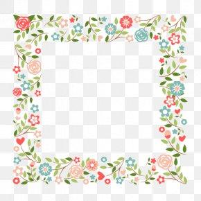 Wedding Invitations Floral Design Vector - Picture Frames Flower Paper PNG