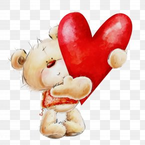 Toy Teddy Bear - Valentine's Day PNG