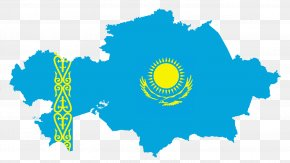 Map - Flag Of Kazakhstan Map National Flag Stock Photography PNG