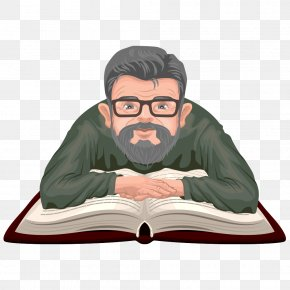 Vector Man Reading - Book Stock Photography Royalty-free Illustration PNG