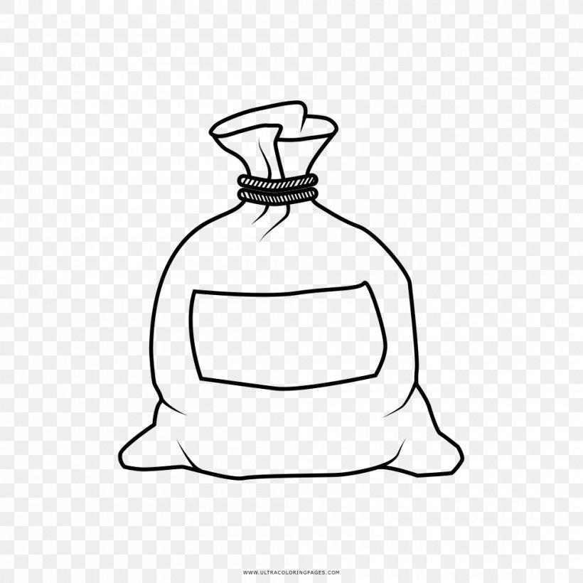 Drawing Coloring Book Money, PNG, 1000x1000px, Drawing, Artwork, Bag, Bin Bag, Black And White Download Free