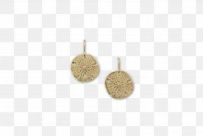 Sand Dollar - Locket Earring Silver PNG