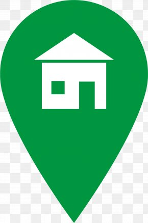 Green Marker Cliparts - House Symbol Home Icon PNG