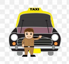 Cartoon Taxi Driver - India Taxi Driver Cartoon PNG