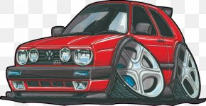 Volkswagen Golf Mk2 - City Car Volkswagen Golf Compact Car PNG