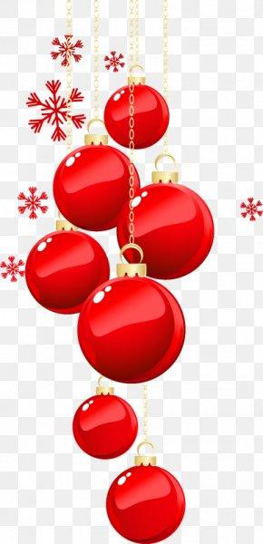 Christmas Balls Painted Red Snowflake Pattern - Christmas Ornament Snowflake PNG