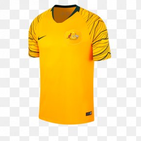 National Football Team 2018 FIFA World Cup Footba - 2018 World Cup Australia National Football Team T-shirt Jersey PNG