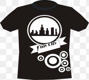 Design T-shirt - T-shirt Fashion Sleeve Logo Outerwear PNG