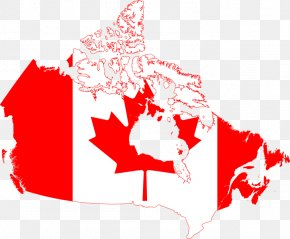 Map Of Canada - Flag Of Canada Map Clip Art PNG