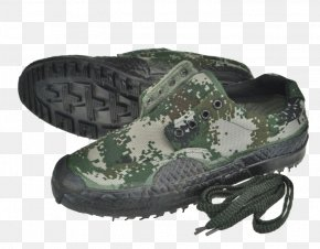 Camouflage Military Shoes - Military Camouflage Shoe PNG