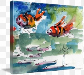 Painting - Watercolor Painting Canvas Print Art PNG