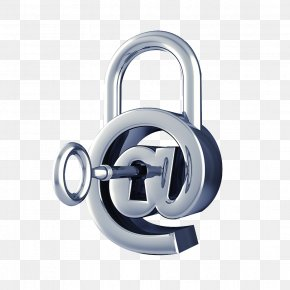 Silver Keylock Vector - Computer Security Email Internet Security Internet Access PNG