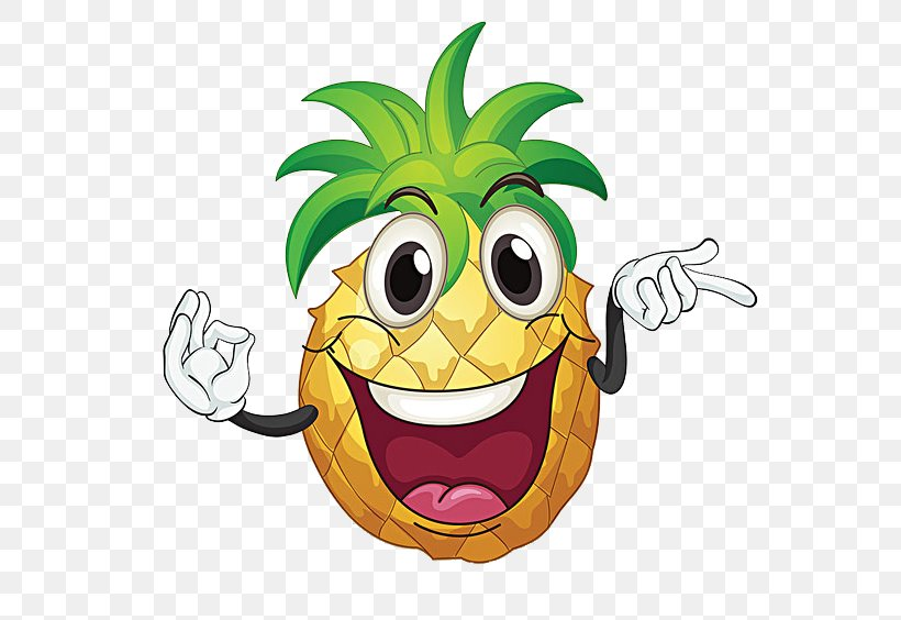 Pineapple Royalty-free Clip Art, PNG, 600x564px, Pineapple, Cartoon, Emoticon, Food, Free Content Download Free