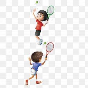 Vector Play Tennis - Drawing Play Illustration PNG