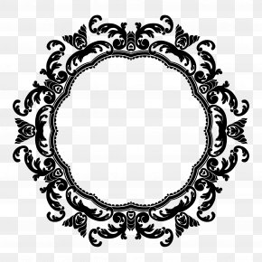 Floral Circle Border - Flower Picture Frame Clip Art PNG