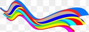 Rainbow - Rainbow Wave Clip Art PNG