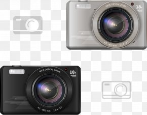 Vector Digital Camera - Digital Camera Digital Data Illustration PNG