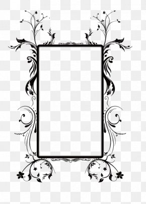 Vector Flower Box Frame - Picture Frame Flower Ornament PNG