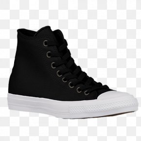 Nike Velcro Walking Shoes For Women - Chuck Taylor All-Stars Sports Shoes Converse CT II Hi Black/ White High-top PNG
