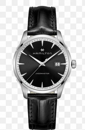 Hamilton Watch Black Male Watch - Fender Jazzmaster Hamilton Watch Company Quartz Clock PNG