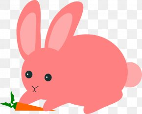 Easter Bunny Pink Background - Domestic Rabbit Hare Easter Bunny Clip Art PNG