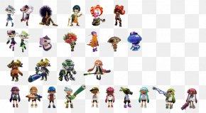 Squid Fish - Splatoon 2 Mario Kart 8 Character Coloring Book PNG